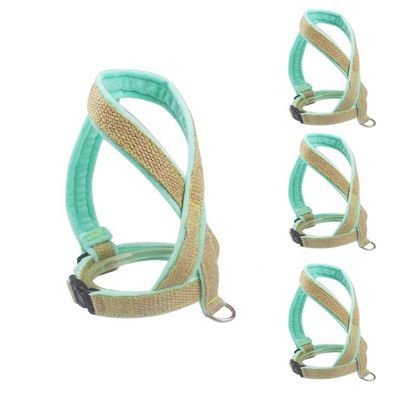 China Custom Firm Padded Dog Harness And Leash Adjustable Step In No Pull Velvet Soft Hemp distributor