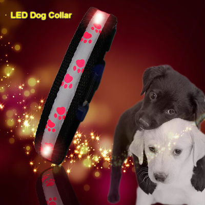China C903 Wholesale Factory Christmas Flashing Lights Usb Rechargeable Light Up Led Dog collars factory