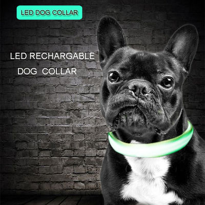 China C906 Wholesale Factory Cheap Price C906 Luminous Nylon Pet USB Rechargeable Led Dog Collar for safety factory