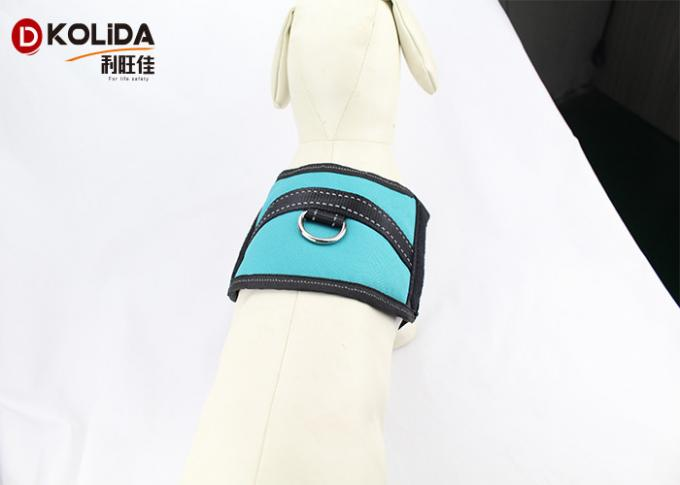 Size S / M / L Blue Reflective Nylon Dog Harness With Neoprene Lining