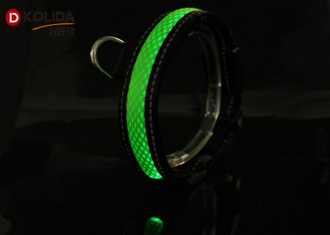 Waterproof Outdoor Walk Pet LED Dog Collar Nylon With Airmesh And LED Light