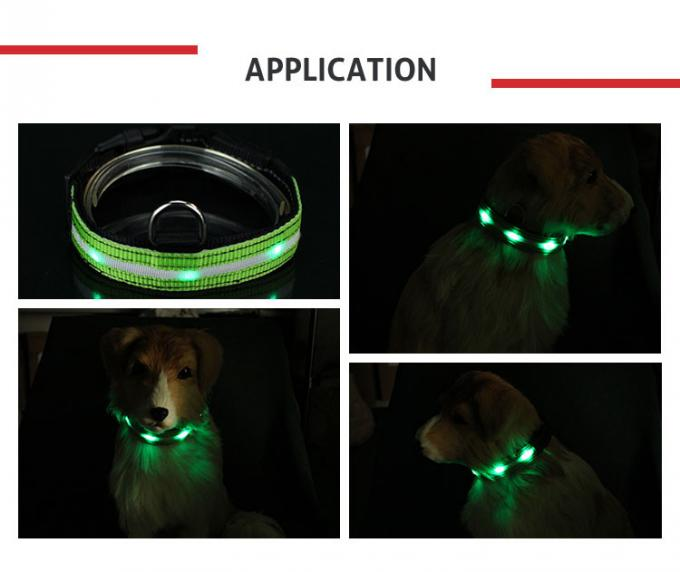 Night Safety Flashing Glow USB Rechargeable LED Dog Collar Leashes Pink / Blue / Red