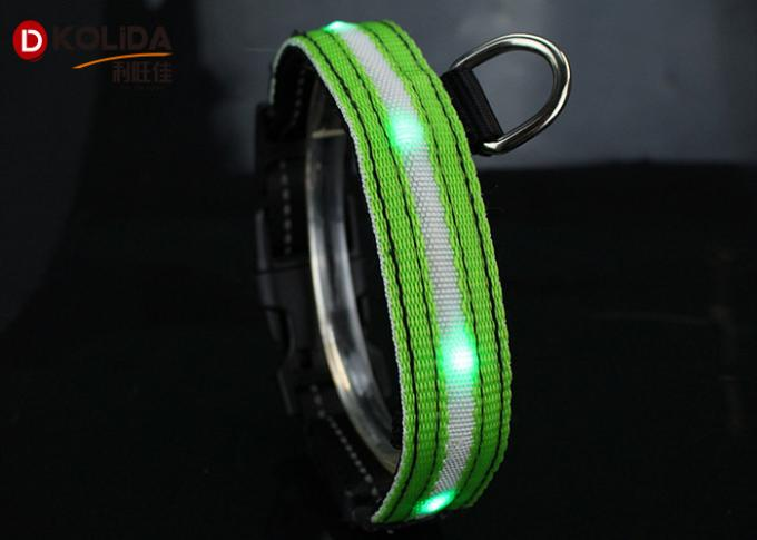 Green / Pink / Blue LED Dog Collar Leashes , Pet Dog Cat Puppy LED Flashing Collar