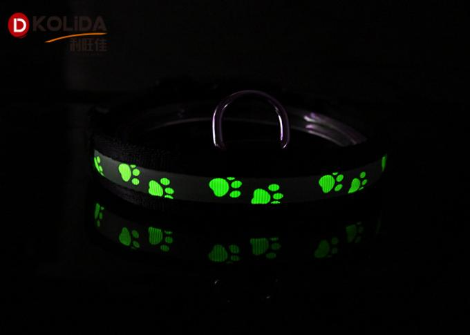 Reflective USB Rechargeable LED Dog Collar For Small / Medium Dog Cat Collar