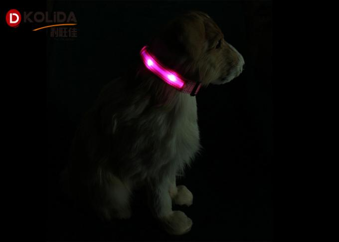 Luminous Night Flashing Glowing USB Rechargeable LED Dog Collar For All Seasons