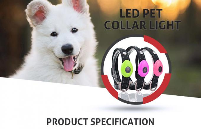 Waterproof Light Up USB Rechargeable LED Dog Collar With Flashing Lights