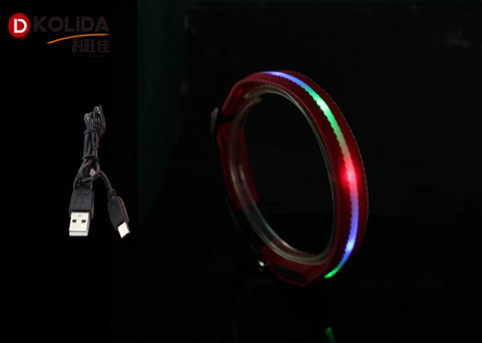 Illuminous USB Rechargeable LED Dog Collar With Waterproof Light Up Pet Collar