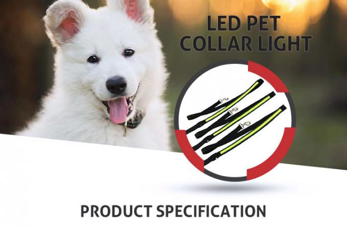 Nature Nylon Reflective Night Safety LED Dog Leash For Cats CE / ROHS