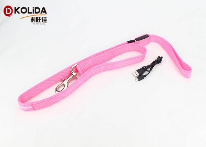 Night Safety Walking Flashing Luminous Glow In The Dark Leash , 60mah Rechargable Liuthium Battery