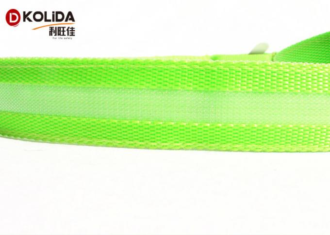 USB Rechargeable 47.2 Inch 120cm Led Light Dog Leash Night Safety Pet Leash Neon Green