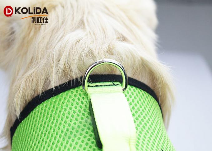 Nylon Chest Usb Rechargeable LED Dog Harness Glow In The Dark Harness