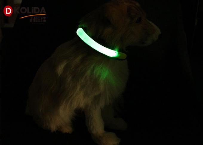 Reflective LED Dog Collar Cover , Pet Accessories Attached To Dog Collars Leashes