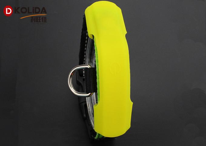 Silicon Adjusable Dog Collar Lights Waterproof Protect Collar