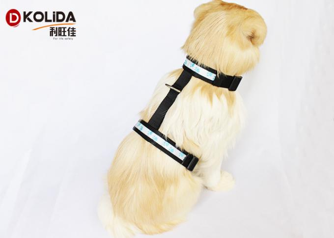 Mesh Reflective Paw USB Rechargeable LED Dog Harness Light Up Pet Harness