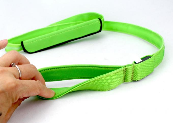 Universal Easy Close Lighted Dog Leash And Collar With Colorful Ribbon