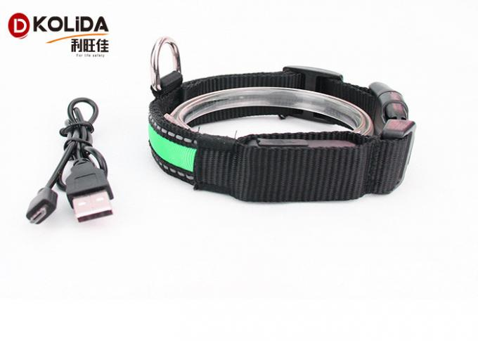 Reflective Light Up Adjustable 3 Size USB Rechargeable LED Dog Collar