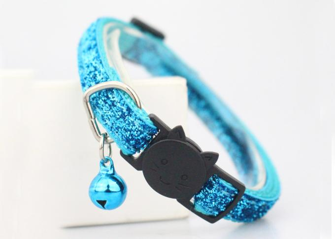 Adjustable Buckle Soft Velvet Nylon Cat Collar For Small Puppy Pet Dog