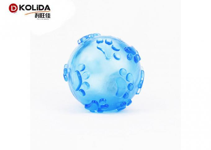 Tasteful Light Up Dog Ball Squeaky Rubber 60mm Dimension For Fun T7