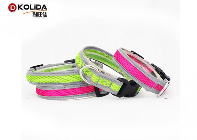 4 Adjustable Sizes Pink Dog Collars Nature Airmesh With 1 Years Warranty