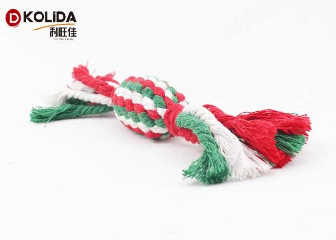 Colorful Pet Toys Cotton Rope Material 4 x 22cm Size For Bite Training