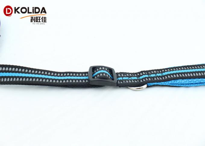 Blue / Yellow 6 Foot Dog Leash , Anti Shock Stretchy Strong Bungee Dog Leash